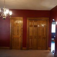2111 Feldman Ave | Dining room with doors to half bath and large coat closet with bi-fold doors