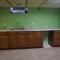 2111 Feldman Ave | basement bar, space for mini fridge