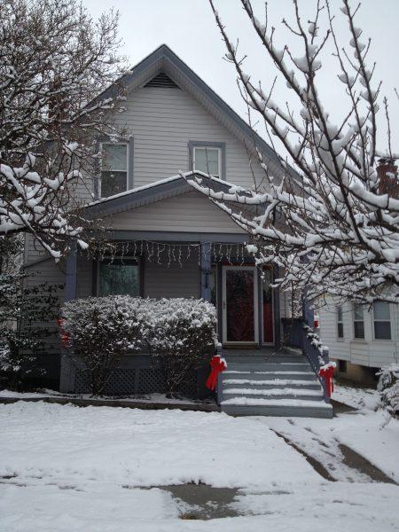 2111 Feldman Ave | Front of house from street in winter